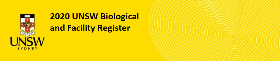 Biological and facility register banner